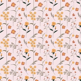 Blume floral nahtlose hintergrundmuster