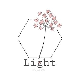 Blume logo concept design line kunst