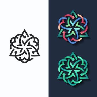 Blume, mehrfarbige form und monochromatische.
