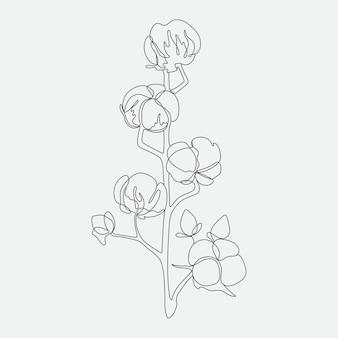 Blume monoline zeitgenössische kunstzeichnung