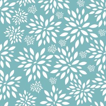 Blume verlässt nahtlose muster-hintergrund-vektor-illustration. eps10 Premium Vektoren