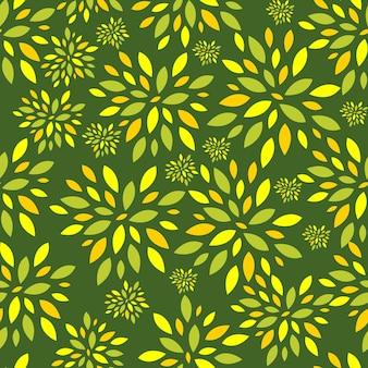Blume verlässt nahtlose muster-hintergrund-vektor-illustration