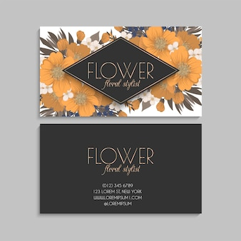 Blume visitenkarten gelbe blumen