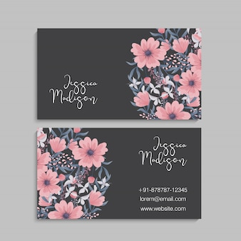 Blume visitenkarten vorlage
