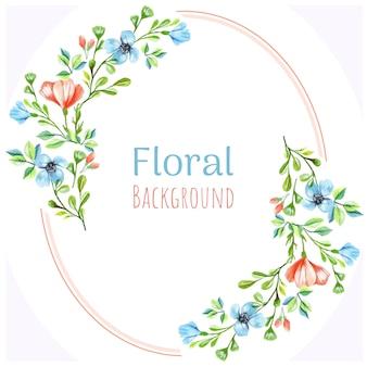 Blumen aquarell hintergrund Premium Vektoren