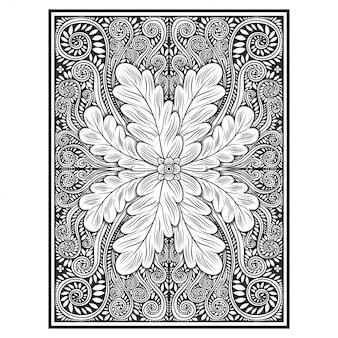 Blumen- / blumenabbildung-vektorzeichnung