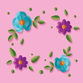 Blumen blumenhintergrundrahmen