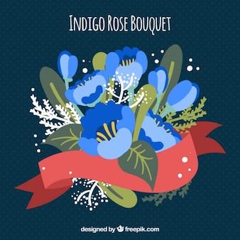 Blumen-bouquet indigo