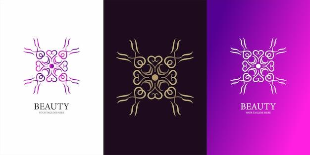 Blumen-, boutique- oder ornament-logo-vorlagendesign.