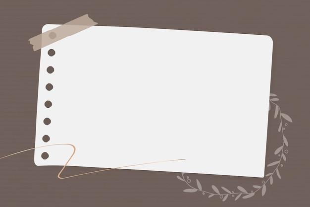 Blumen briefpapier vorlage