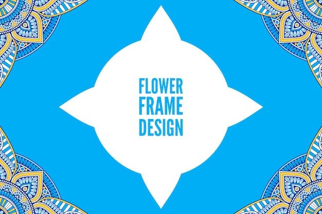 Blumen bunter runder ornamentrahmen