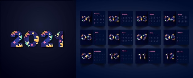 Blumen-design-kalender