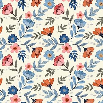 Blumen entwerfen nahtloses muster für textil-tapeten des stoffes.