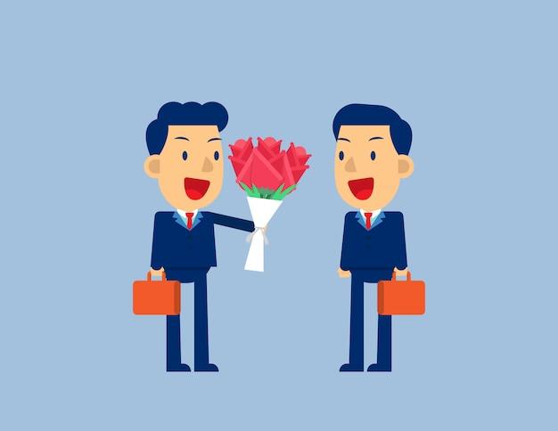 Blumen geben