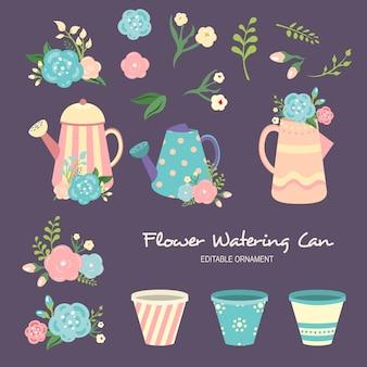 Blumen gießkanne