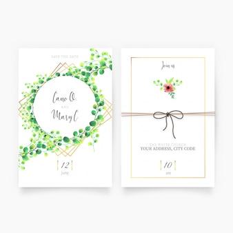 Blumen Hochzeitseinladung