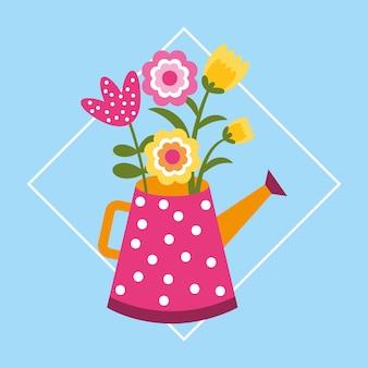 Blumen im wasser können rahmen