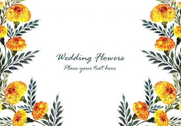 Blumen-kartenschablone des hochzeitseinladungsaquarells dekorative