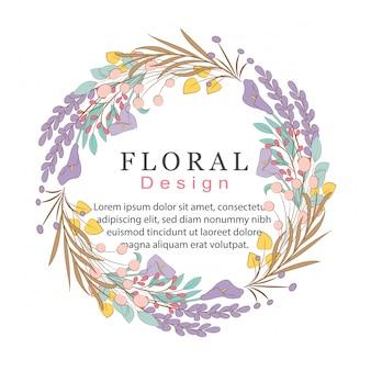 Blumen kritzeleien kranz