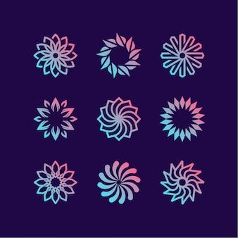 Blumen-logo-auflistung