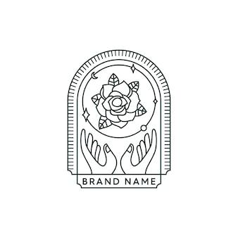 Blumen-logo halten