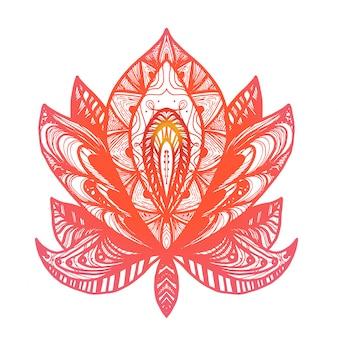 Blumen lotus tattoo