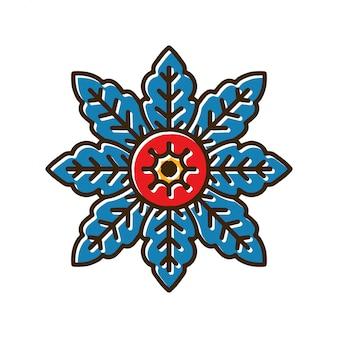 Blumen-mandala-tätowierung
