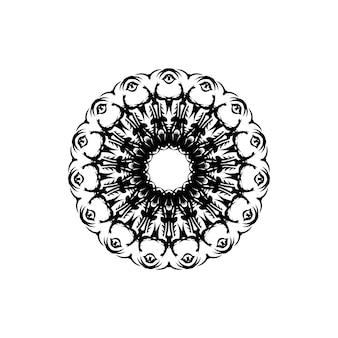 Blumen-mandala. vintage dekorative elemente. orientalisches muster, vektorillustration. islam, arabisch, indisch, marokkanisch, spanien, türkisch, pakistan, chinesisch, mystisch, osmanische motive. malbuchseite