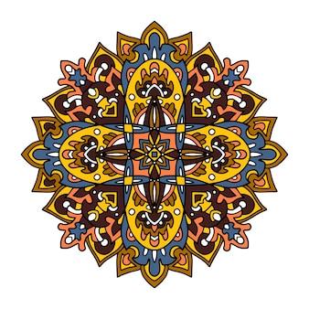 Blumen-mandalas. vintage dekorative elemente.