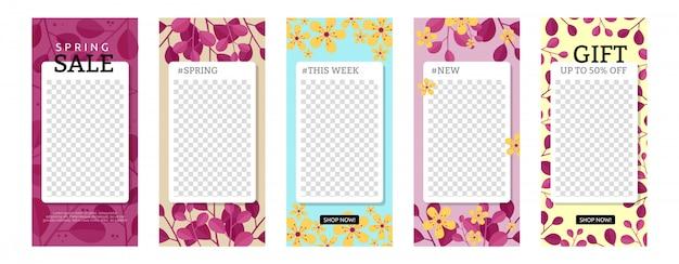 Blumen mit geometrischen formen geschichte vorlagensatz