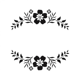 Blumen monogramm papier ausgeschnittenen dateien