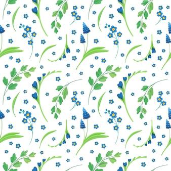 Blumen nahtlose muster auf weiß