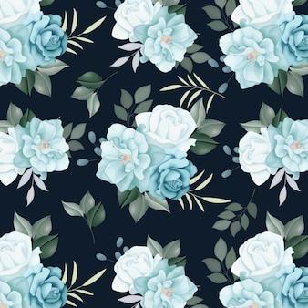 Blumen nahtlose muster rosen und wilde blumen