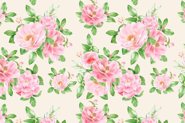 Blumen nahtloses muster blumenblüte
