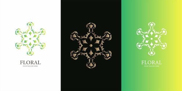 Blumen-, ornament- oder mandala-logo-vorlagen-design.