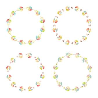 Blumen-rahmen-sammlung. satz der karte mit blumen für hochzeitseinladungen und glückwunschkarten
