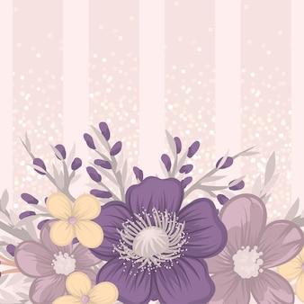 Blumen rahmen vorlage.