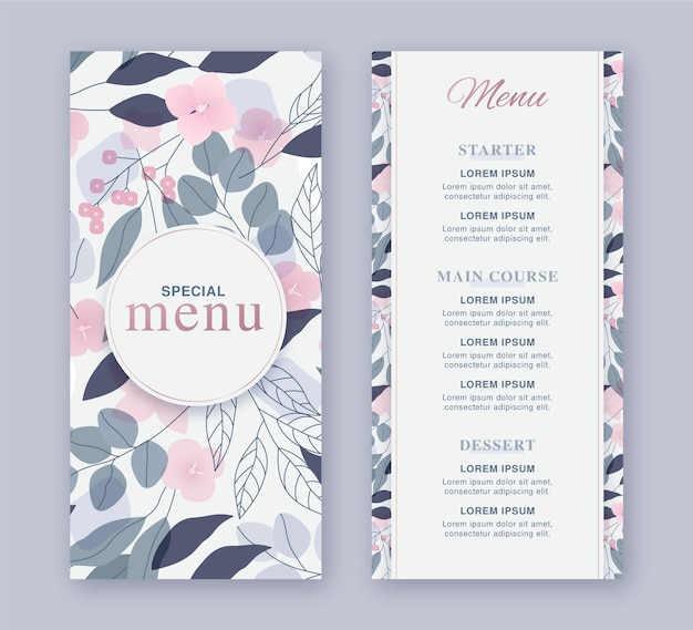 Blumen restaurant restaurant vorlage