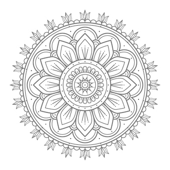 Blumen runde ornament mandala illustration für die dekoration