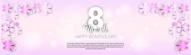 Blumen silhouetten international women day banner vorlage