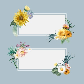 Blumen sommer banner