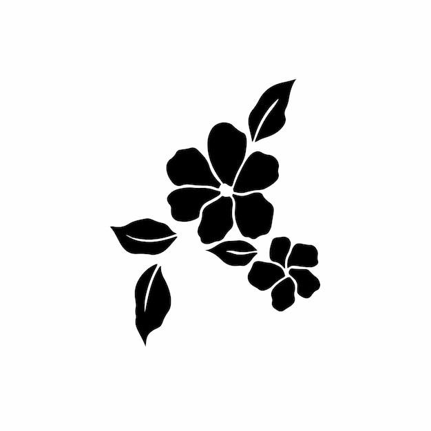 Blumen symbol logo tattoo design schablone vektor illustration