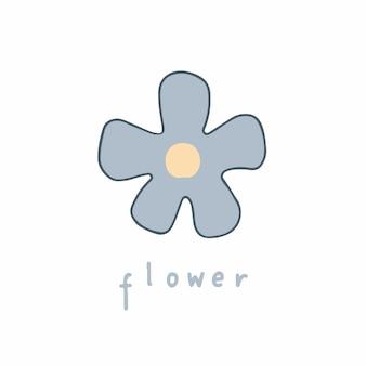 Blumen symbol social media post blumen vektor illustration Premium Vektoren