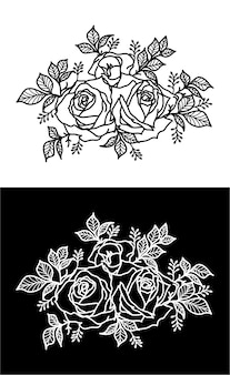 Blumen tattoo design