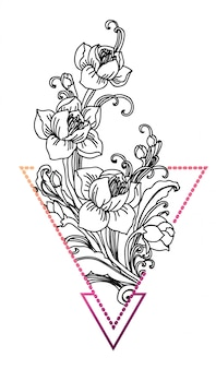 Blumen-tattoo