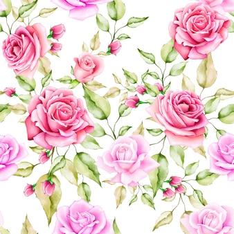 Blumen und blätter nahtlose muster