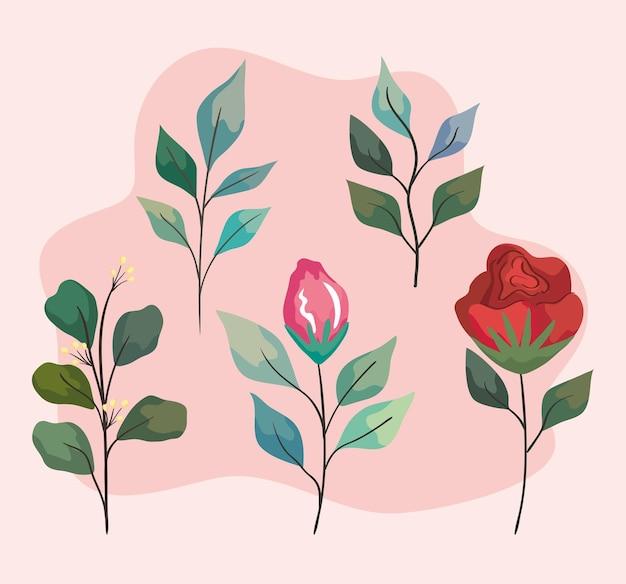 Blumen- und blättergarten