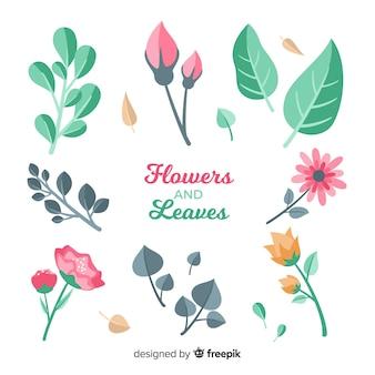 Blumen- und blattsammlung