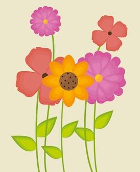 Blumen und blumenmuster.