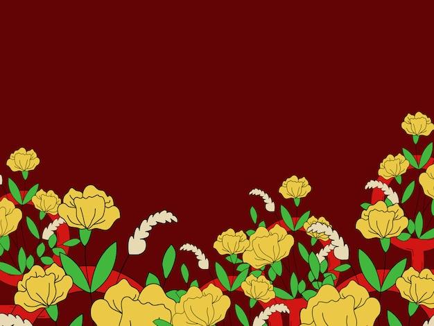 Blumen- und bunter feministischer tapetenvektor